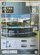 Intex 20' X 48 Ultra Xtr Frame Round Swimming Pool Set W/ Pump, Ladder And Cover