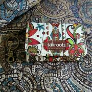 Sak Roots Id Keychain Coin Wallet Beige Floral Peace Collection-nwot-new