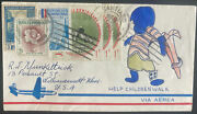 1963 Santiago Dominican Republic Hand Draw Airmail Cover To Usa Help Children