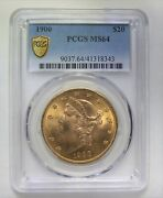 1900 20 Gold Coin Liberty Head Double Eagle Pcgs Ms64