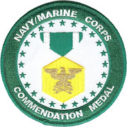 4 Navy Marine Corps Commendation Medal Military Round Embroidered Patch