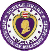 4 Purple Heart Badge Of Military Merit Award Medal Round Embroidered Patch