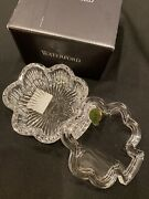 Waterford Crystal Shamrock Shape Covered Dish New In Box 95 Retail