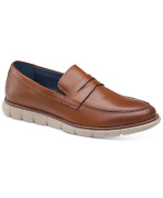 Johnston And Murphy Men's Milson Casual Penny Loafers Tan Brown Size 10.5m
