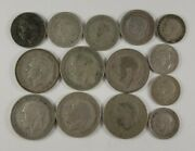 9 Shillings Worth Of Uk Silver Coins 3 Pence Through Shilling
