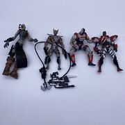 Lot Of 4 Mcfarlane Toys Die Hard, Grave Digger, Youngblood Sentinel, Shadowhawk