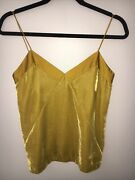 Club Monaco Velur Combo Cami Gold/ Mustard Size Xs New With Tag