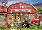 Jigsaw Puzzle Seek And Find 10 Things Antiques For Sale 1000 Piece New Scavenger