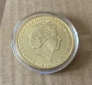 Elizabeth Ii 2017 Proof One Crown Coin With Certificate