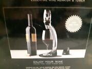 Vinturi Deluxe Red Wine Aerator Set With Tower, Stand And Holder Never Used