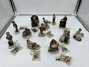 Norman Rockwell Figurines 1979 Lot Of 12