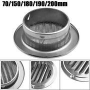 70mm/150mm/180mm/190mm/200mm Stainless Steel Round Louver Air-vent Air-outlet Uk