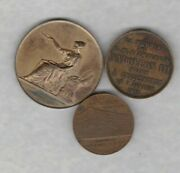 Three Bronze Medals From France 1873/1890 And 1937 In Extremely Fine Condition