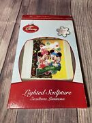 Disney Mickey And Minnie Holiday Play Lighted Glitter Glow Window Sculpture 15andrdquo