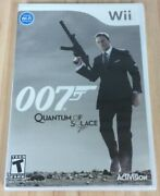 Brand New James Bond 007 Quantum Of Solace Nintendo Wii Factory Sealed Free S/h