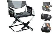Pico Compact Folding Camp Chair With Carry Bag Mercury Gray