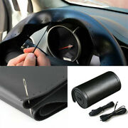 Carbon Fiberandpu Leather Steering Wheel Stitch On Wrap Cover For Car 15and039and039/38cm