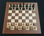 German Wooden Chess Pieces Set King Height 10.7cm No Board Pieces Only
