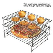 3tier Cake Cooling Wire Rack Nonstick Tray Cookies Baking Biscuits Bread Kitchen