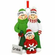 Snow Shovel Family Of Christmas Personalized Ornaments