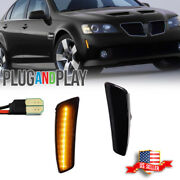 2x Smoke Front Bumper Led Side Markers Lights For 2008 2009 Pontiac G8 Gt Gxp