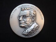 Nelson A. Rockefeller 1974 Silver Vice President Medal With Exact Relief Model