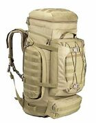 Military Internal Frame Backpack Army Rucksack Tactical Molle Pack For Coyote