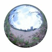 Durable Stainless Steel Gazing Ball, Hollow Ball Mirror Globe Polished 14 Inch