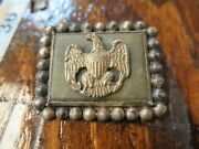 Antique Sterling Silver Eagle Brooch Hat Badge Pin .925 - Rare Handmade