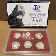 2007 United States Mint 50 State Quarter Silver Proof Set