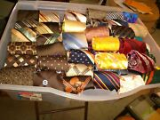 Bulk Of Vintage Ties 60and039s-70and039s Most Never Worn| Full Silk And Full Polyester 80+