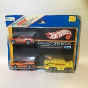 Hot Wheels 1981 Collectors' Catalog Book W/ 3 Promotional Cars Very Rare Vintage