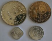 India 5 10 Paise And 10 50 Rupees 1977 Fao 4 Coins Set With Silver Crown