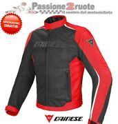 Jacket Dainese Hydra Flux Dry Black Red Size 46 Motorcycle Perforated Waterproof