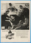 1944 Kinsey Blended Whiskey Linfield Pa Saul Tepper Art Piano Player Magazine Ad