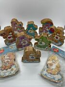 """Rare Vintage Care Bears 1984 Wooden Figurines Lot Of 10 Good Luck Bear 4"""""""