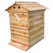 Wooden Self Flowing Honey Bee Hive Boxes Apiculture Nest Equipment Free Shipping