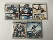 Lot Of 5 Madden Nfl 07, 08, 11, 13, 16, Ps3 Most Complete- Free Shipping