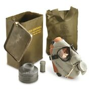 Us Military M9 Gas Mask Chemical Biological Army Marines Vintage M9a1