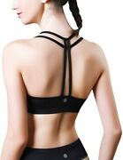 Queenieke Women's Light Support Double-t Back Wirefree Pad Yoga Sports Bra...