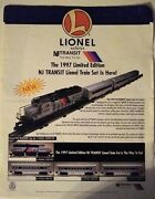 1997 Lionel Salutes New Jersey Transit Limited Edition Train Set Flyer