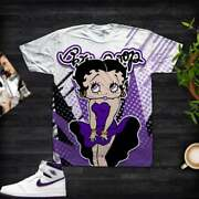 3d Tshirt For Air Jordan 1 Hight And039and039court Purpleand039and039 Unisex Shirt Betty.b-3d Tee