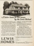 1922 Lewis Manufacturing Co Bay City Mi Prefabricated Houses A Better Home Ad