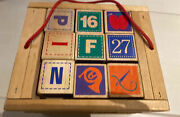 Wood Alphabet Blocks Letter Pictures Numbers Educational Toy By Crate And Barrel
