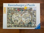 New Ravensburger 5000 Historical Map Of The World Jigsaw Puzzle 174157