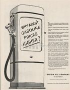 1953 Union Oil Co Gas Pump Why Arenand039t Gasoline Prices Higher California Print Ad