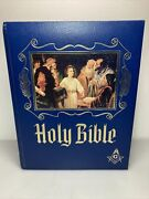 Masonic Holy Bible Master Reference Red Letter Edition Free Mason Vintage 1988
