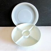 Vintage Tupperware 1708-9 6 Divided Veggie Relish And Dip Serving Tray Lid Free Sh