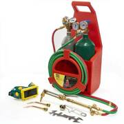 With Oxygen And Acetylene Tanks Welding Cutting Torch Portable Professional Kit