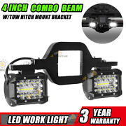 4 Led Work Light Pods With Towing Hitch Mount Brackets For Truck Suv Pickup